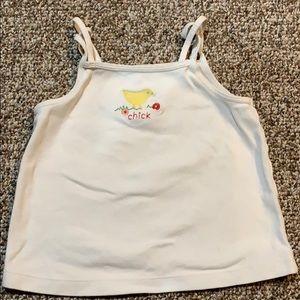 Gymboree 'chick' white tank top